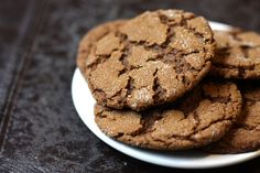 Chewy ginger molasses cookies.