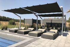 Backyard Pergola, Patio Roof, Pergola Plans, Pergola Kits, Carport Kits, Pergola Ideas, Backyard Ideas, Retractable Shade, Retractable Pergola