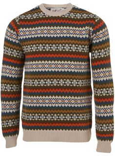 add28e47be5c6a topman retro pattern crew neck jumper