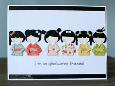 Frantic Stamper Precision Die - Kokeshi Japanese Paper Doll