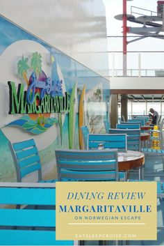 Margaritaville on Norwegian Escape dining review. Check out all the yummy offerings at this first at sea restaurant!