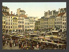 [Old part of town, Warsaw, Russia (i.e. Warsaw, Poland)], ca 1890-1900