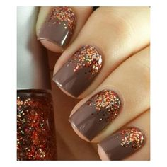 30 Cool Fall Wedding Nails Ideas ❤ liked on Polyvore featuring beauty products and nail care