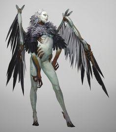 """character concept"" by Sangsoo Jeong 3d Fantasy, Fantasy Monster, Fantasy Races, Character Concept, Character Art, Concept Art, Creature Feature, Creature Design, Art Manga"
