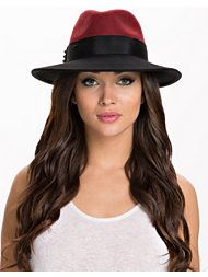 Blac/Red Feodora Hat
