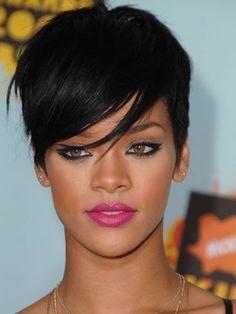Rihanna's side-swept bangs!