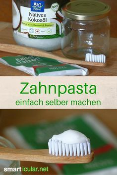The simplest toothpaste recipe with only two ingredients, healthy and effective - Toothpaste made from purely natural ingredients? Homemade, simple and also inexpensive? Sure it wor - Beauty Care, Diy Beauty, Beauty Tips, Beauty Hacks, Toothpaste Recipe, Limpieza Natural, Teeth Care, Junk Food, Oral Hygiene