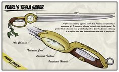 Pearl's Tesla Saber from Clockwork Amazon