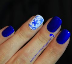 Saturday Morning Manicure: Blue Jeans
