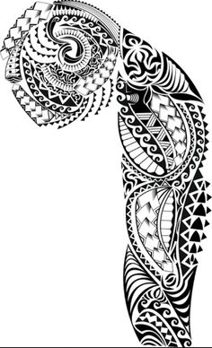 Men tattoo for arm and chest