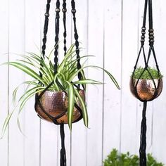 Black Macrame Hanger With Copper Bowl - metal is officially the material of the moment in homeware and jewellery.