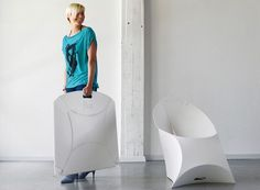 Flux Foldable Armchair — Dining and Side Chairs -- Better Living Through Design - I have seen it in real life & its cool , look at the video too
