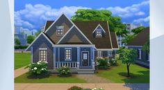 Check out this lot in The Sims 4 Gallery! - #wrathofcath #nocc #starter #3br2ba #family #skills #cute #karamustafa #cozy  #perfectgarden #newcrest  Made for Newcrest. A cute starter home for a small family. Chess table, tv, perfect fruits and veggies, chemistry set and doll house for the kids :)
