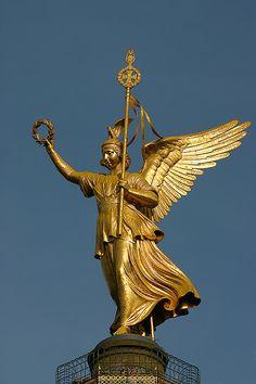 Victoria, the Roman Goddess of victory.