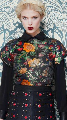Alice + Olivia Fall 2013 - The russian style - #fashion #moda - #mode