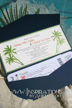 Boarding Pass Wedding Invitations by InspirationsbyAmieLe on Etsy, $50.00