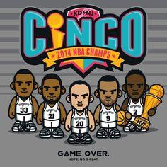 Spurs 'Cinco' Art