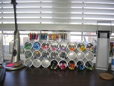 Lucky's Creations: Copic Marker Holder OR peg stamp holder.