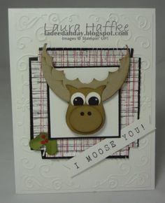 Bobble Moose Head Card