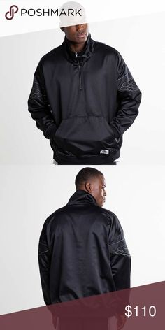 a201374c9f3c Jordan Jacket Wings Classics Black Sz Large Sample Jordan Mens Jacket Wings  Classics Black Satin Standard Fit AO0406-010 Sample Size Large Fabric  Content  ...