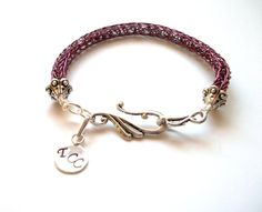 images of viking knit jewelry   Viking Knit Bracelet in Plum & Silver by TerahClassyCreations, $30.00