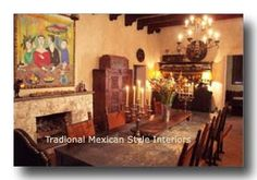 Black ceiling, melon gold walls change color at night with candelabra