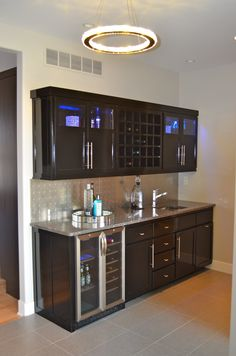 Wet Bar on corner refrigerator