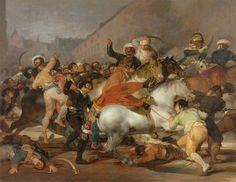 Il 2 maggio 1808; Francisco Goya; olio su tela; 1814; Museo del Prado, Madrid, Spagna.