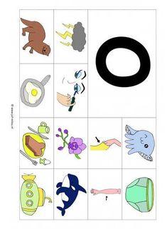 Taal - O 12 woorden kl Free Preschool, Preschool Worksheets, Games For Kids, Diy For Kids, Beginning Sounds, School Posters, Letter J, Kindergarten, Pre School