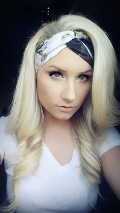 HUNTER and WHITE Realtree Camo headband by TheWoodenAntler, $20.00