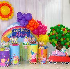 Peppa Pig Birthday Decorations, Peppa Pig Happy Birthday, Boys 1st Birthday Cake, Pig Birthday Cakes, 1 Year Birthday Party Ideas, Second Birthday Ideas, 2nd Birthday Parties, Pig Party, Jojo Album