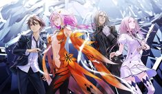 Guilty Crown bluray box out illustration Guilty Crown Wallpapers, Anime Manga, Anime Art, Anime Boys, Crown Pictures, Inori Yuzuriha, Mysterious Girl, I Love Anime, Fun To Be One