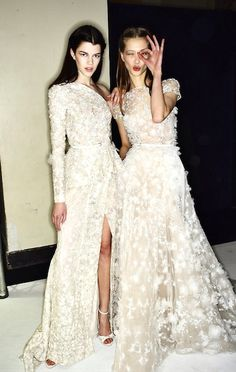 Backstage at Elie Saab Haute Couture Spring 2014