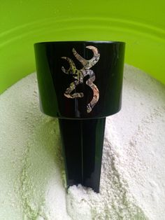 Browning camo Spiker beach drink holder by BigBowPeeps on Etsy, $12.00