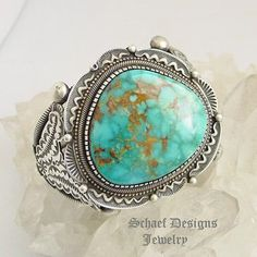 Nelvin Burbank Turquoise Cuff Bracelet   Schaef Designs Jewelry   New Mexico