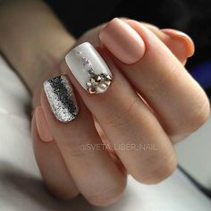Mar 2019 - The New Year's manicure is one of the key components of the festive image. See our designs to add the good mood and beauty to the New Year. See more ideas about Manicure, Nails and New year's nails. New Years Nail Designs, Best Nail Art Designs, New Year's Nails, Hair And Nails, Gel Nail Polish, Gel Nails, Nail Nail, Cute Nails, Pretty Nails