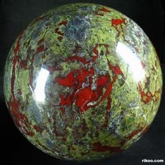 Dragon Blood Jasper Crystal Ball > one of my favorite stones...