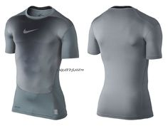 MEN'S NIKE COMPRESSION SHIRT TO BASE LAYER DRI-FIT GRAY / BLACK PRO COMBAT NEW #Nike #ShirtsTops Nike Compression, Nike Pro Combat, Nike Pros, Wetsuit, Nike Men, Online Price, Cool Outfits, Layers, Base