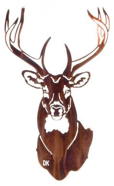 Metal Wall Art | Rustic Metallic 3D Buck Decor