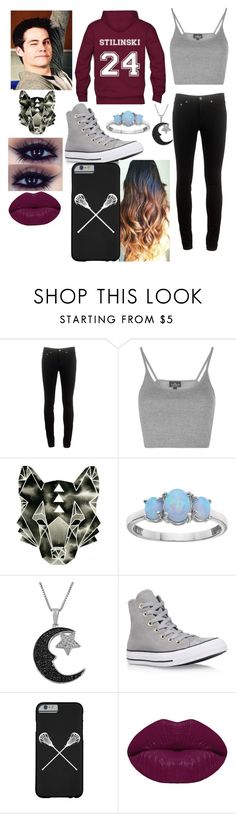 """""""Stiles-teen wolf"""" by hannahkatelow ❤ liked on Polyvore featuring rag & bone, Topshop, Jewel Exclusive, Converse and Winky Lux"""
