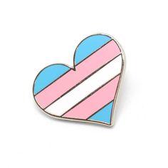Trans heart pin