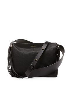 Lanvin Tribale Fringe Shoulder Bag, Black