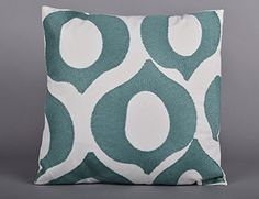 Utopia Alley Lydia Embroidered Decorative Pillow, Teal / White Utopia Alley http://www.amazon.com/dp/B017B8JP90/ref=cm_sw_r_pi_dp_amoqwb1ZBRNK6