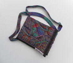 Unique Shoulder Bag, Vintage Scarf, Quilted, Multi Coloured £20.00