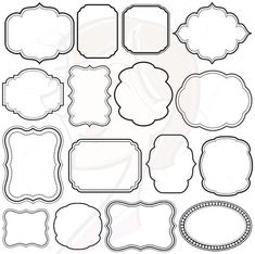 Digital Scrapbooking Frames Clipart Clip Art Decoration Borders Commercial Personal Use Supplies Teachers Crafters Transparent Middle 10139