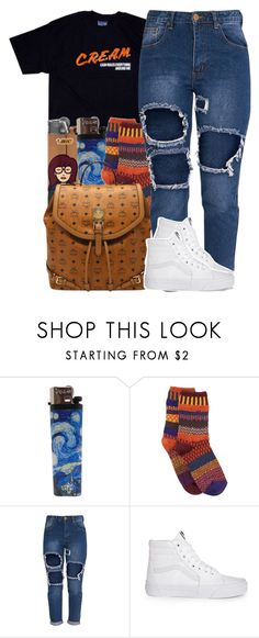 """""""Untitled #974"""" by trinsowavy ❤ liked on Polyvore featuring Solmate Socks, MCM and Vans"""