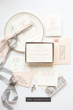 Introducing the Charleston - part of the One + Only Paper Collection.   Ready to order letterpress wedding invitations that allow you to customize printing, colors, and more! Click through to see all the suites in the Collection, and get pricing information.
