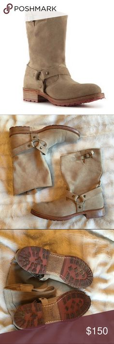 Vintage Shoe Co. Suede Juliet Harness Boots In good used condition with minimal wear to the suede and to the soles. Purchased from the Sundance Catalog but this brand is also sold at Nordstrom. Great quality. Made in the USA. Vintage Shoe Company Shoes Ankle Boots & Booties