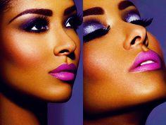Purple lipstick makes the world go round!
