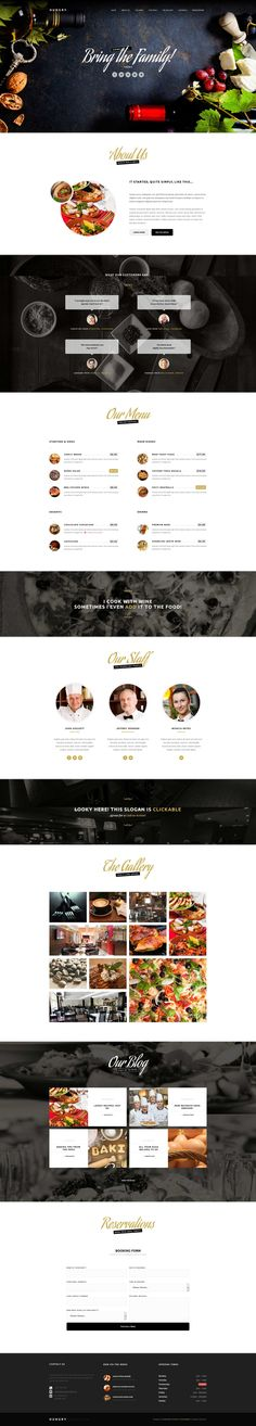 Hungry A One Page #HTML #Restaurant Template With Reservation Form #webdesign
